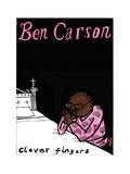 Ben Carson - Cartoon Giclee Print by Edward Steed