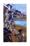 Thomas Jefferson Leading a Troop During the Revolutionary War Giclee Print by Stanley Meltzoff