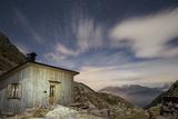 The Paolo E Nicola Hut and Forecella Valmaggiore Bathed in Starlight Photographic Print by Ulla Lohmann
