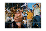 Fans Up: a Section of Elated Fans at the 1976 Baseball World Series Giclee Print by Stanley Meltzoff