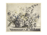 Vintage Basket of Flowers II Prints by Giovanni Baptiste