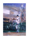 The Great Pitchers: Best Hurlers Face Off Alongside Ghosts from the Past at the 1976 World Series Giclee Print by Stanley Meltzoff