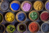 At the Marrakech Medina, Colored Powder Dyes Used in Fabric Dyeing Photographic Print by Richard Nowitz