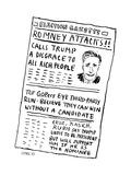 Romney Attacks! - Cartoon Premium Giclee Print by David Sipress