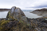 A Lichen Encrusted Boulder on a Lake Shore Carved by a Glacier Photographic Print by Jason Edwards