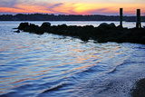 A Jetty Extends into the Bay at Stonington Point Photographic Print by Donna O'Meara