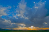 A Magnificent Sunset Sky over Rural Montana Photographic Print by Gordon Wiltsie