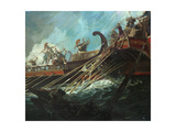 Battle of Salamis, 480 Bce Giclee Print by Stanley Meltzoff