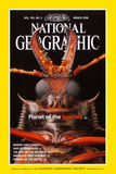 Cover of the March, 1998 National Geographic Magazine Photographic Print by Mark W. Moffett