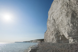 White Chalk Cliffs Near Beachy Head on the South Coast of Britain Photographic Print by Alex Treadway