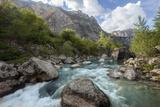 The Sarca River Cascades Through the Sarca Valley Photographic Print by Ulla Lohmann