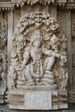 An Elaborate Carving of the Hindu God Vishnu Photographic Print by Kelley Miller