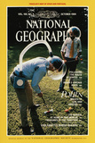 Cover of the October, 1984 National Geographic Magazine Fotografisk tryk af Martha Cooper