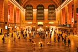 Three Ballerinas in White Tutus Dancing at Grand Central Station at Night Photographic Print by Kike Calvo