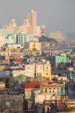 Buildings in Havana, Cuba with the Gulf of Mexico in the Background Fotografie-Druck von Erika Skogg