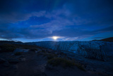 Moonrise over the Icy Fracture Zone of Russell Glacier Photographic Print by Jason Edwards