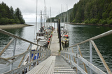 Small Commercial Fishing Boats Moored to a Floating Dock Photographic Print by Jonathan Kingston