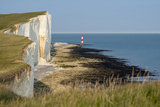 Looking Towards the Cliffs Near Beachy Head and the Lighthouse Photographic Print by Alex Treadway