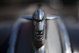 A Hood Ornament Adorns an American Classic Car in Havana, Cuba Photographic Print by Greg Davis