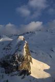 The Sunlit Col Di Bousc, Marmolada Glacier Photographic Print by Ulla Lohmann