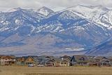 New Houses Replace Farm Fields Below the Bridger Mountains Near Bozeman, Montana Photographic Print by Gordon Wiltsie
