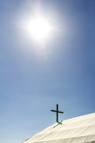 A Crucifix on the Canvas Roof of the St Alipius' School in a Gold Mine Town Museum Photographic Print by Jason Edwards