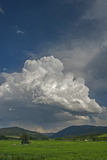 A Cumulus Thunderhead Builds over Cottonwood Canyon and the Gallatin Range, Montana Photographic Print by Gordon Wiltsie