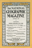 Cover of the January, 1925 National Geographic Magazine Fotografisk tryk