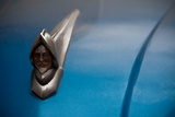 A Conquistador Hood Ornament Adorns a Classic Car in Havana, Cuba Photographic Print by Greg Davis