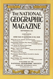 Cover of the September, 1932 National Geographic Magazine Fotografisk tryk