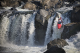 A Kayaker Plunging over a Waterfall Photographic Print by Irene Owsley