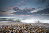 Waves Wash Ashore under a Gentle Sky Photographic Print by Robbie George
