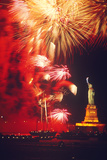 The Statue of Liberty Underwent Restoration and Reopened Liberty Weekend July 3-6, 1986 Photographic Print by Gerd Ludwig