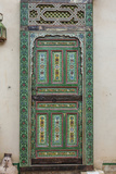 A Painted Door in Le Jardin Des Biehn, a Riad or Small Hotel in the Medina of Fez Photographic Print by Richard Nowitz