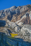 Fall Colors Punctuate Dramatic Erosion: Deep Gullies and Steep Aretes and Ridges Photographic Print by Gordon Wiltsie