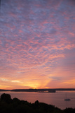The Sun Rise over Fort Gorges and Casco Bay Photographic Print by Robbie George