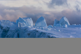 Detail of an Iceberg in Ilulissat Icefjord, an UNESCO World Heritage Site Photographic Print by Sergio Pitamitz