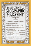 Cover of the January, 1933 National Geographic Magazine Photographic Print