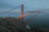 Lights on the Golden Gate Bridge at Dusk Photographic Print by Jeff Mauritzen