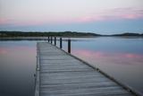 A Tranquil Evening on the Dock Photographic Print by Robbie George