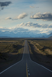 Route 40 in Patagonia with Distant Andean Peaks Photographic Print by Alex Treadway