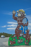 A Famed Road Sign of Smokey the Bear Warns Tourists of Forest Fire Danger Along U.S. Highway 395 Photographic Print by Gordon Wiltsie