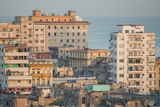 Buildings in Havana, Cuba with the Gulf of Mexico in the Background Photographic Print by Erika Skogg
