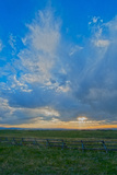 A Magnificent Sky at Sunset in the Gallatin Valley, Montana Photographic Print by Gordon Wiltsie