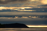 Sunrise View with Fog on the Horizon from the Cabot Trail in Cape Breton Highlands National Park Photographic Print by Darlyne A. Murawski