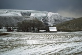 Farmland after Winter Snow Photographic Print by Macduff Everton