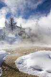 Steam Rising from Hot Springs in Yellowstone National Park Photographic Print by Robbie George