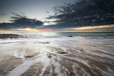 The Tide Ebbs under the First Rays of Morning Sun Photographic Print by Robbie George