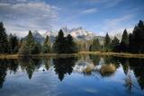 Grand Tetons and Snake River, Early Morning Fotografisk trykk av Macduff Everton