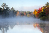 Mist Rises Off the Water on an Autumn Morning Photographic Print by Robbie George